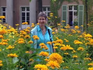 Christine im Liebermann-Garten