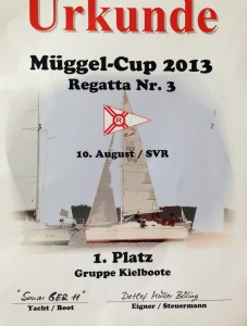 Mueggel-Cup 2013 Urkunde