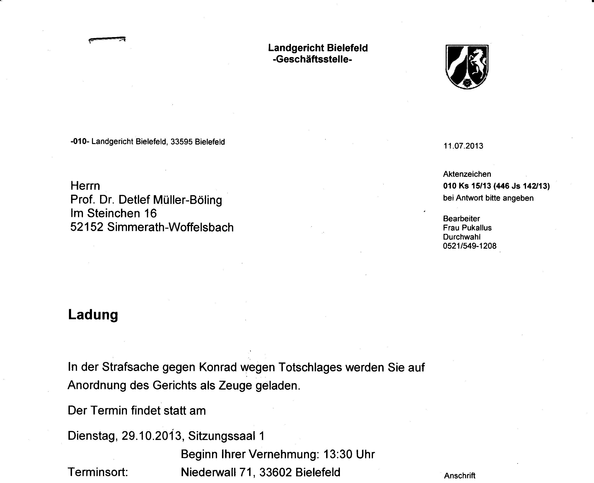 2013_10_29 Vorladung