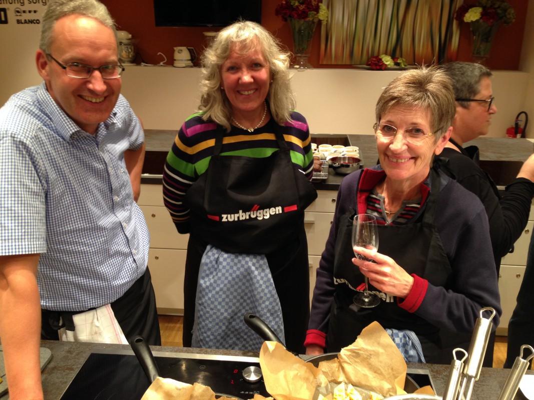 Entspannte Köche: Ingo, Monika, Christine
