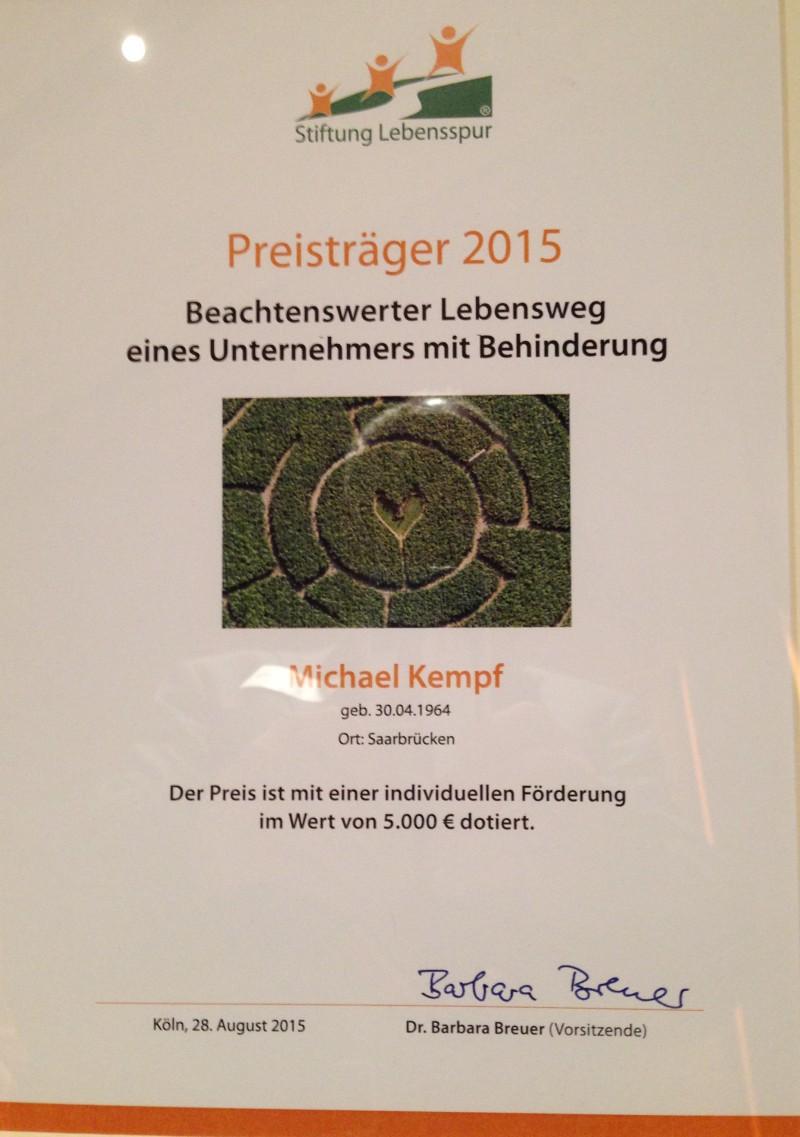 2015_08_28 Michael Kempf Urkunde