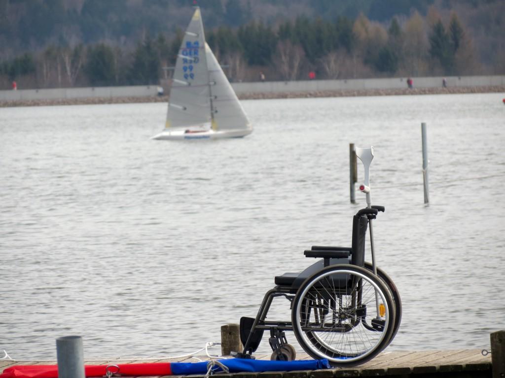 2015_04_03 Bostalsee Rollstuhl und Flitzpiepchen