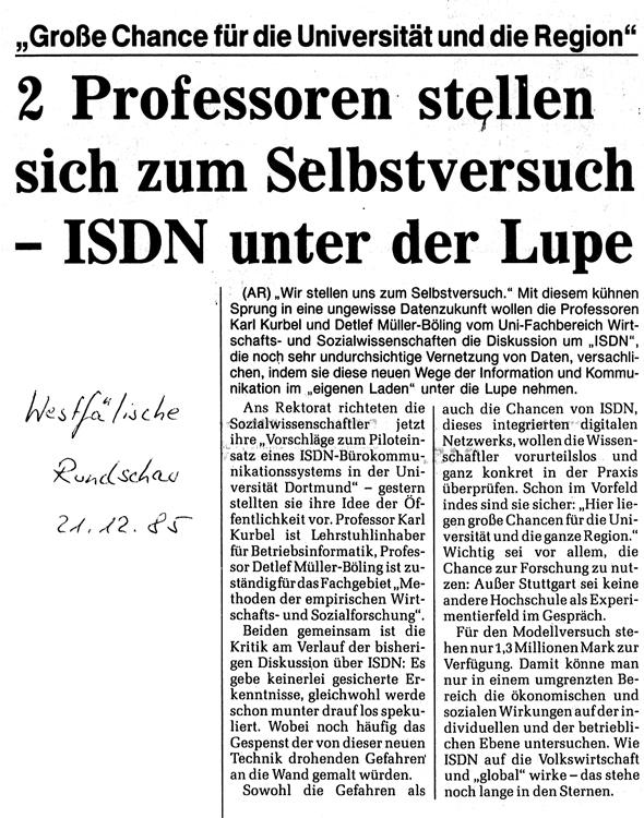 1985_12_21 WR 2 Professoren stellen sich dem Selbstversuch