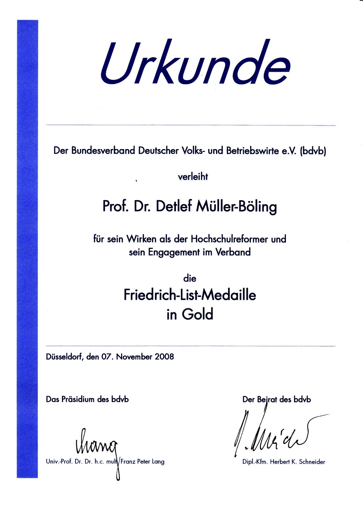 2008_11_07 Friedrich List-Medaille Urkunde